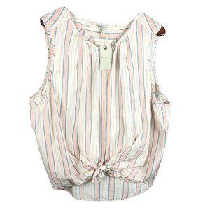 Lucky Brand Stripe sleeveless blouse plus size 3X